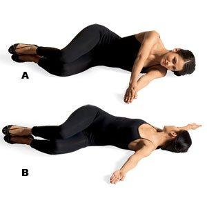 Упражнение на развитие подвижности в спине